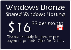 Windows Bronze Shared Hosting Prices