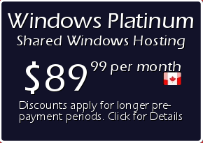 Windows Platinum Shared Hosting Prices