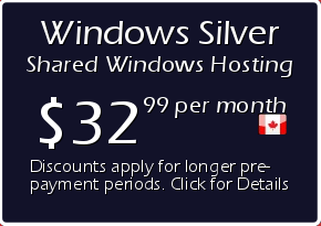 Windows Silver Shared Hosting Prices