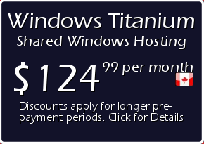 Windows Titanium Shared Hosting Prices